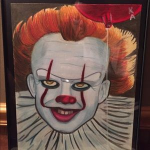 """Pennywise IT Drawing with Frame Price Firm 10""""x13"""""""